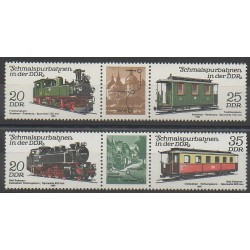 Allemagne orientale (RDA) - 1980 - No 2220/2223 - Chemins de fer