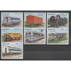 Nicaragua - 1983 - No 1264/1267 - PA1022/PA1024 - Chemins de fer