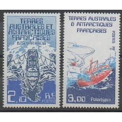 TAAF - 1986 - No 120/121 - Navigation - Régions polaires