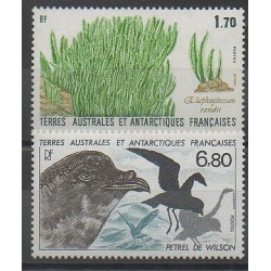 French Southern and Antarctic Territories - Post - 1988 - Nb 131/132 - Birds - Flora