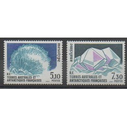 French Southern and Antarctic Territories - Post - 1989 - Nb 144/145 - Minerals - Gems