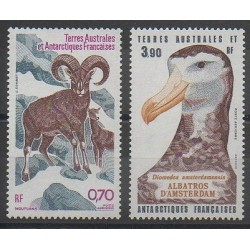 French Southern and Antarctic Lands - Airmail - 1985 - Nb PA86/PA87 - Birds - Mamals