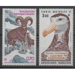 TAAF - Poste aérienne - 1985 - No PA86/PA87 - Oiseaux - Mammifères
