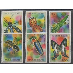Guinea - 1973 - Nb 494/499 - Insects