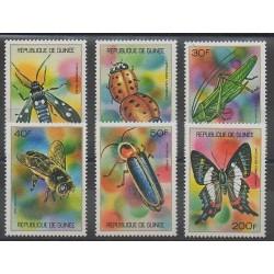 Guinée - 1973 - No 494/499 - Insectes