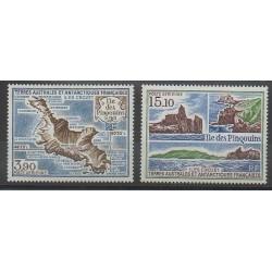 TAAF - Poste aérienne - 1988 - No PA100/PA101 - Régions polaires
