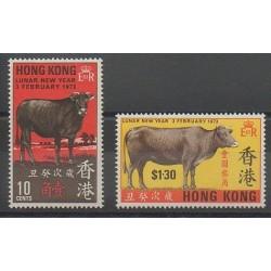 Hong-Kong - 1973 - No 264/265 - Mammifères