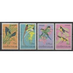 Thaïlande - 1975 - No 721/724 - Oiseaux