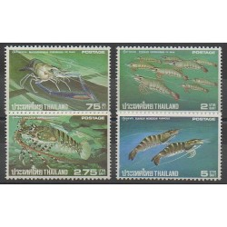 Thaïlande - 1976 - No 774/777 - Animaux marins