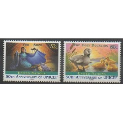 Nations Unies (ONU - New-York) - 1996 - No 708/709 - Enfance