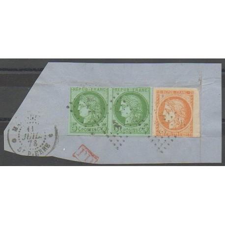 - 1878 - Nb 13 et paire de 17 sur fragment - Used