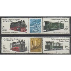 Allemagne orientale (RDA) - 1981 - No 2284/2287 - Chemins de fer