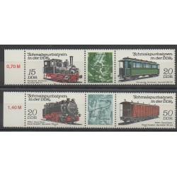 East Germany (GDR) - 1983 - Nb 2435/2438 - Trains