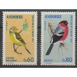 French Andorra - 1974 - Nb 240/241 - Birds