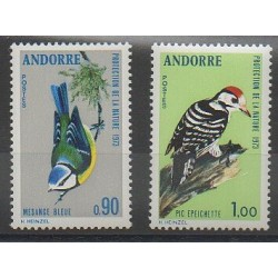 French Andorra - 1973 - Nb 232/233 - Birds