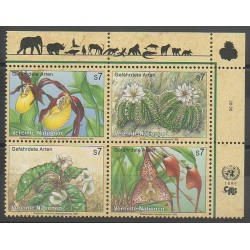 United Nations (UN - Vienna) - 1996 - Nb 225/228 - Environment - Flowers