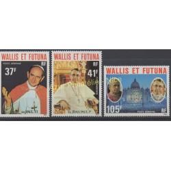Wallis et Futuna - Poste aérienne - 1979 - No PA86/ PA88 - Papauté