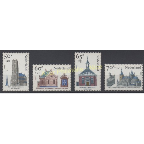 Netherlands - 1985 - Nb 1236/1239 - Churches