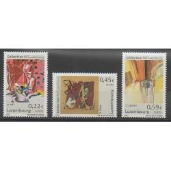 Luxembourg - 2002 - No 1517/1519 - Peinture