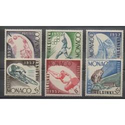 Monaco - 1953 - No 386/391 - Jeux Olympiques d'été