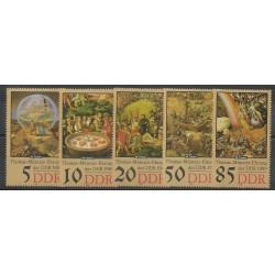 Allemagne orientale (RDA) - 1989 - No 2874/2878 - Peinture
