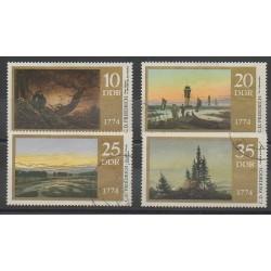 Allemagne orientale (RDA) - 1974 - No 1939/1942 - Peinture - Oblitéré