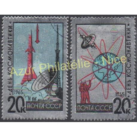 Russie - 1965 - No 2953/2954 - Espace - Oblitéré