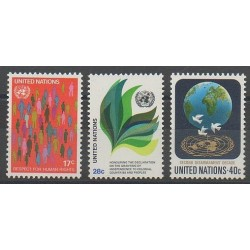 Nations Unies (ONU - New-York) - 1982 - No 359/361 - Droits de l'Homme