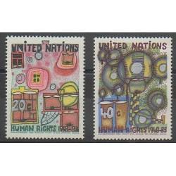 Nations Unies (ONU - New-York) - 1983 - No 406/407 - Droits de l'Homme