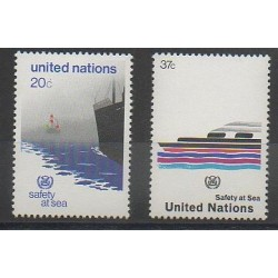 Nations Unies (ONU - New-York) - 1983 - No 385/386 - Navigation