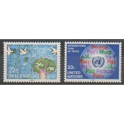 Nations Unies (ONU - New-York) - 1986 - No 465/466