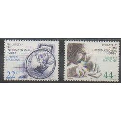 Nations Unies (ONU - New-York) - 1986 - No 463/464 - Timbres sur timbres