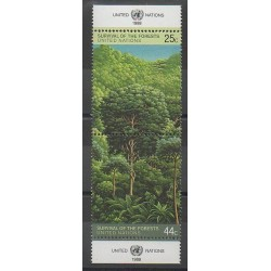 Nations Unies (ONU - New-York) - 1988 - No 515/516 - Environnement - Arbres