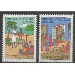 Nations Unies (ONU - New-York) - 1987 - No 510/511 - Santé ou Croix-Rouge