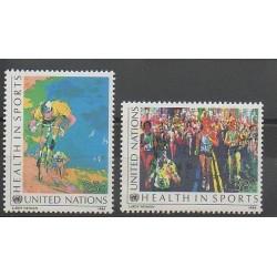 Nations Unies (ONU - New-York) - 1988 - No 519/520 - Sports divers - Santé ou Croix-Rouge