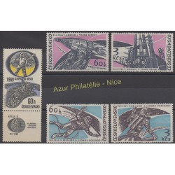 Czechoslovakia - 1965 - Nb 1395/1398 - 1735 - Space
