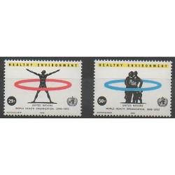 Nations Unies (ONU - New-York) - 1993 - No 632/633 - Santé ou Croix-Rouge