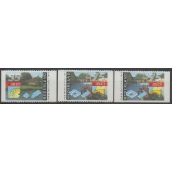 Pays-Bas - 1991 - No 1373a - 1375a/1375b - Monuments