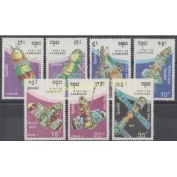 Cambodia - 1990 - Nb 968/974 - Space