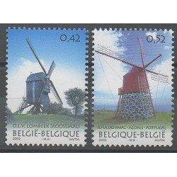 Belgium - 2002 - Nb 3085/3086 - Monuments