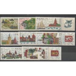 Pologne - 1969 - No 1766/1773 - Armoiries
