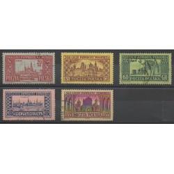 Pologne - 1954 - No 777/781 - Monuments - Oblitéré