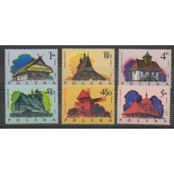 Pologne - 1974 - No 2142/2147 - Monuments - Églises