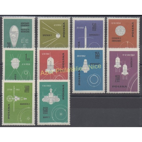 Poland - 1963 - Nb 1302/1311 - Space