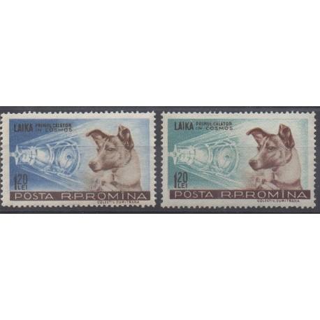 Romania - 1957 - Nb 1550/1551 - Space
