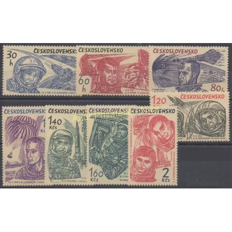 Czechoslovakia - 1964 - Nb 1331/1338 - Space