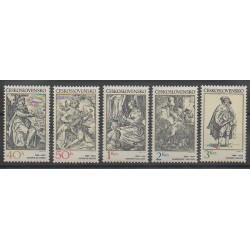 Tchécoslovaquie - 1982 - No 2482/2486 - Peinture - Musique