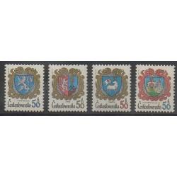 Tchécoslovaquie - 1982 - No 2474/2477 - Armoiries