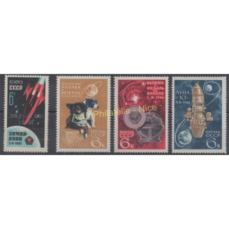 Russia - 1966 - Nb 3064 - 3120/3122 - Space