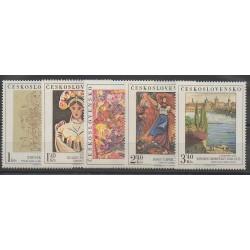 Tchécoslovaquie - 1975 - No 2138/2142 - Peinture